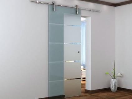 Glasschiebetür Stahl Glassy - 205x83 cm