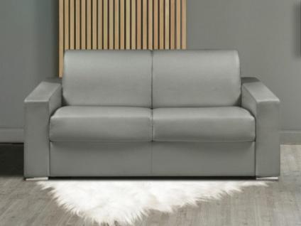 Schlafsofa 2-Sitzer CALITO - Grau - Liegefläche: 120 cm - Matratzenhöhe: 14cm