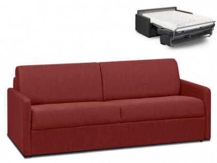 Schlafsofa 4-Sitzer Stoff CALIFE - Rot - Liegefläche: 160 cm - Matratzenhöhe: 18cm
