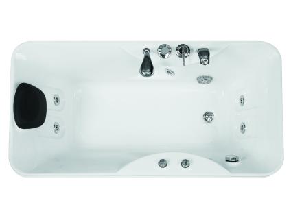 Whirlpool Badewanne GAVINO - 1 Person - 140 Liter - Ecke Rechts - Vorschau 4