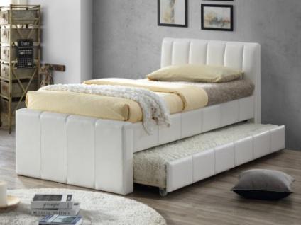 Ausziehbett ANDREA + Lattenrost - 2x90x190cm - Weiß