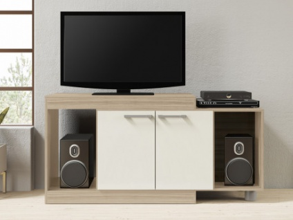 tv mobel thiago ausziehbar eichenholzfarben