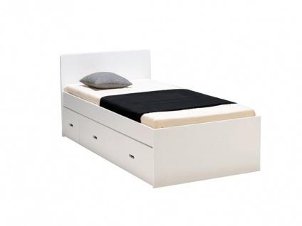 bett mit bettkasten pacom 90x190cm wei kaufen bei kauf. Black Bedroom Furniture Sets. Home Design Ideas