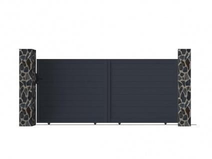 Gartentor Schiebetor NAZARIO - Aluminium - B350 x H158 cm