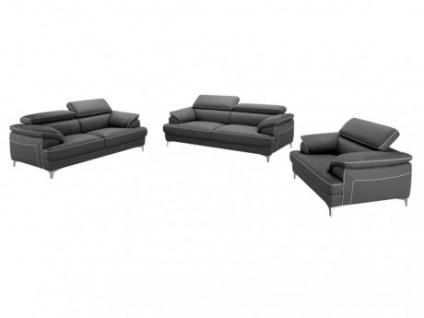 Couchgarnitur 3+2+1 Voltaire - Grau