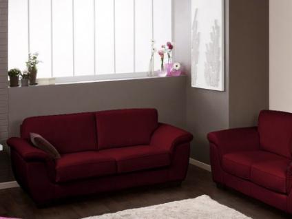 Ledersofa Schlafsofa 3-Sitzer Salerne - Luxusleder - Rot
