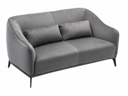 2-Sitzer-Sofa KOGGA - Samt - Grau