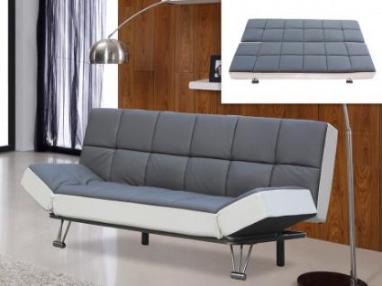 Schlafsofa Espo - Ausklappbar - Grau&Weiß