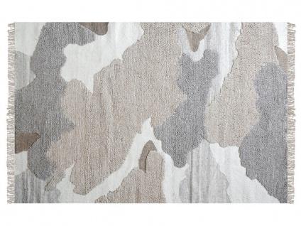 Teppich handgewebt COUNTRY von SIA - Baumwolle - 160x230cm - Naturfarben