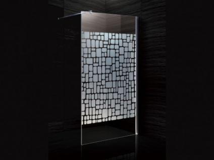 Duschtrennwand Seitenwand italienische Dusche Laura - 120x190cm