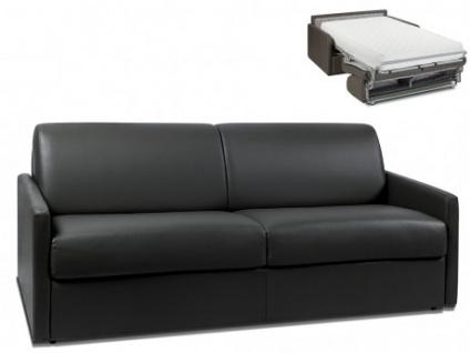 Schlafsofa 4-Sitzer CALIFE - Schwarz - Liegefläche: 160 cm - Matratzenhöhe: 22cm