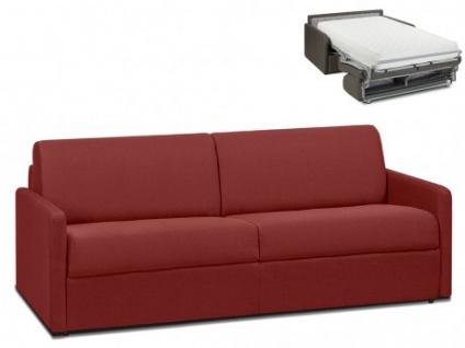 Schlafsofa 4-Sitzer Stoff CALIFE - Rot - Liegefläche: 160 cm - Matratzenhöhe: 22cm