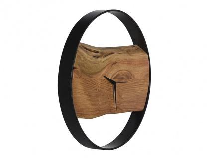 Wanduhr Industrie-Design Holz & Metall VIVENA - Durchmesser: 45 cm