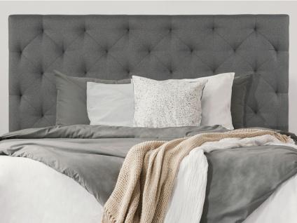 Kopfteil Bett NADRA - 160 cm - Stoff - Grau
