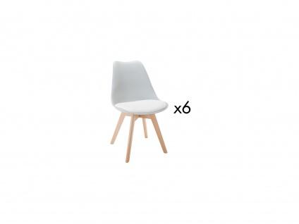 Stuhl 6er-Set JODY - Polypropylen - Hellgrau
