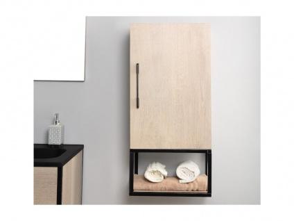 Komplettbad PHENA - Unterschrank + Waschbecken + Spiegel + Oberschrank - Holz-Optik - Vorschau 5