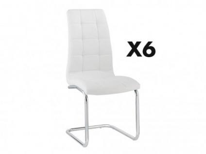 Stuhl 6er-set Nadya - Weiß - Vorschau 1