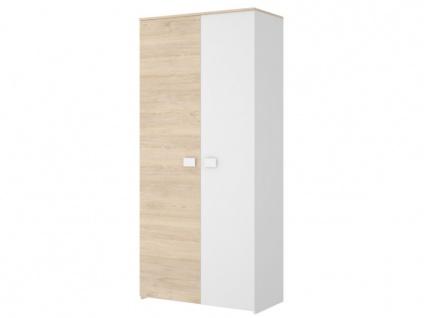 Kleiderschrank SONIA - 2 Türen - Eiche & Weiß