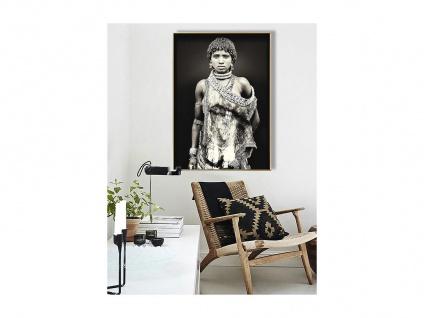 Kunstdruck gerahmt LEONA - 80 x 120 x 2, 5 cm - Schwarz & Weiß