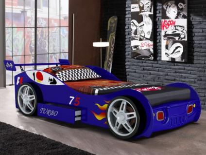 Kinderbett RUNNER + Lattenrost - 90x200cm - Blau