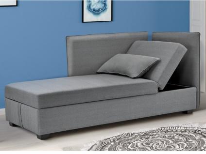 3-Sitzer-Sofa Stoff MOSINA - Grau - Vorschau 3