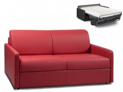 Schlafsofa 3-Sitzer CALIFE - Rot - Liegefläche: 140 cm - Matratzenhöhe: 18cm
