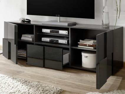 TV-Möbel mit LED-Beleuchtung CALISTO - Anthrazit lackiert