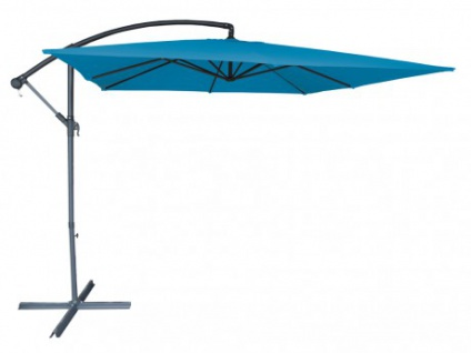Sonnenschirm höhenverstellbar mit Fuß Capelina - Durchmesser: 250 cm - Türkis