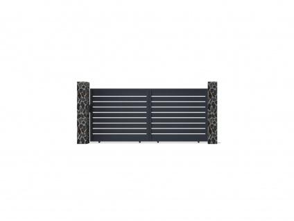 Gartentor Schiebetor PRIMO - Aluminium - B392 x H176 cm