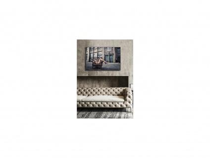 Kunstdruck gerahmt STREETY - 80 x 120 x 2, 5 cm - Grau & Beige