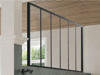 Atelier Glaswand Aluminium BAYVIEW - 180x105 cm - Schwarz