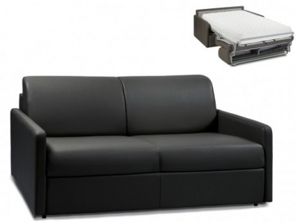 Schlafsofa 3-Sitzer CALIFE - Schwarz - Liegefläche: 140 cm - Matratzenhöhe: 22cm
