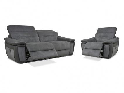 Relaxgarnitur 3+1 PARUA - Grau