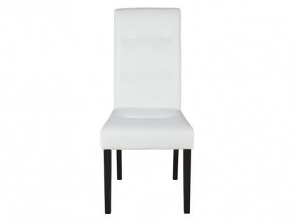 Stuhl 6er-Set Leder TADDEO - Weiß - Vorschau 4