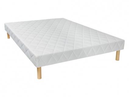 Bettgestell mit Lattenrost PANACEA - Weiß - 140x200 cm