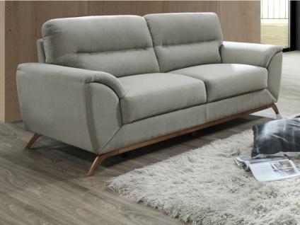 3-Sitzer-Sofa Microfaser YASMINE - Grau