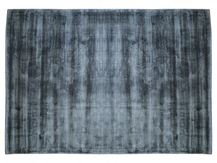 Teppich LOUVAIN - 100% Viskose - 160x230 cm - Dunkelblau