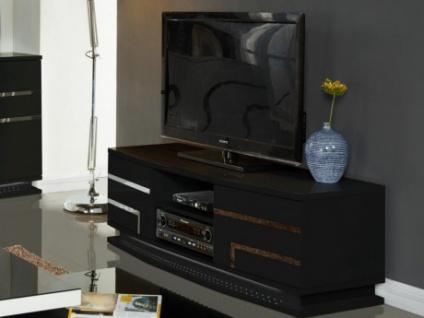 TV-Möbel Hochglanz LED Luminescence IV - 2 Türen - Schwarz