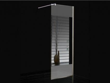 Duschtrennwand Seitenwand Spiegel für bodengleiche italienische Dusche Carla - 90x200 cm - Vorschau 2