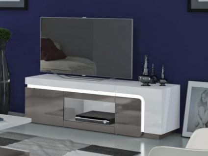 TV-Möbel Hochglanz LED Odean - 2 Türen
