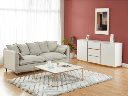 Sideboard FERIHANE - 2 Türen & 3 Schubladen - Weiß
