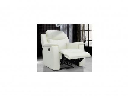 Relaxsessel Fernsehsessel Leder Evasion - Elfenbein-Weiß
