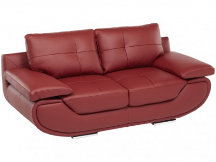 Ledersofa 2-Sitzer Orgullosa - Luxusleder - Rot