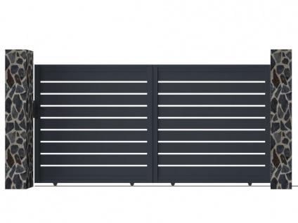 Gartentor Schiebetor PRIMO - Aluminium - B350 x H176 cm