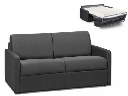 Schlafsofa 2-Sitzer Stoff CALIFE - Grau - Liegefläche: 120 cm - Matratzenhöhe: 18cm