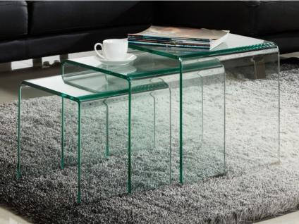Beistelltisch 3er-Set Glas Design Minka