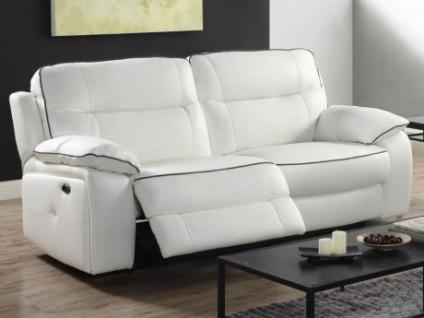 Relaxsofa Leder 3-Sitzer CATANE - Weiß