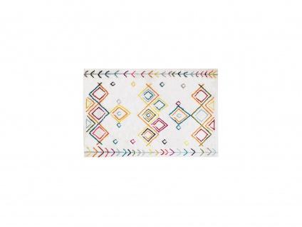 Teppich Berber-Stil ANGKOR - 160 x 230 cm - Beige & Mehrfarbig