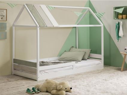 Kinderbett Hausbett INDIANA - 90x190 cm - Weiß