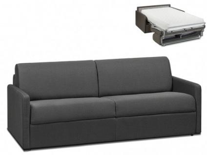 Schlafsofa 4-Sitzer Stoff CALIFE - Grau - Liegefläche: 160 cm - Matratzenhöhe: 22cm